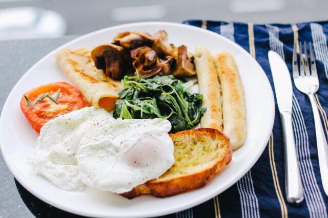 栄養満点な朝食