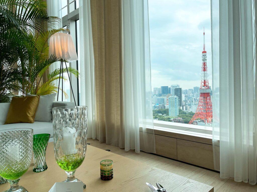 東京エディション虎ノ門から見える東京タワー